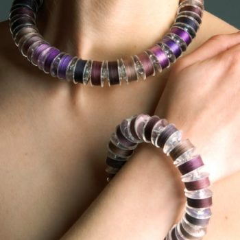Upcycled Colored Spools Into Jewelry