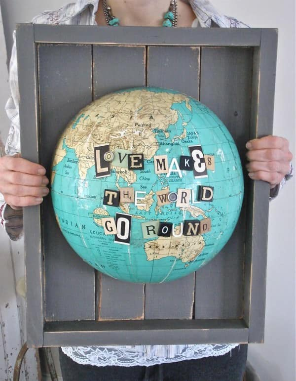 gglobeart 600x771 18 DIY Projects for Globe al Recycling in diy  with Repurposed Recycled DIY