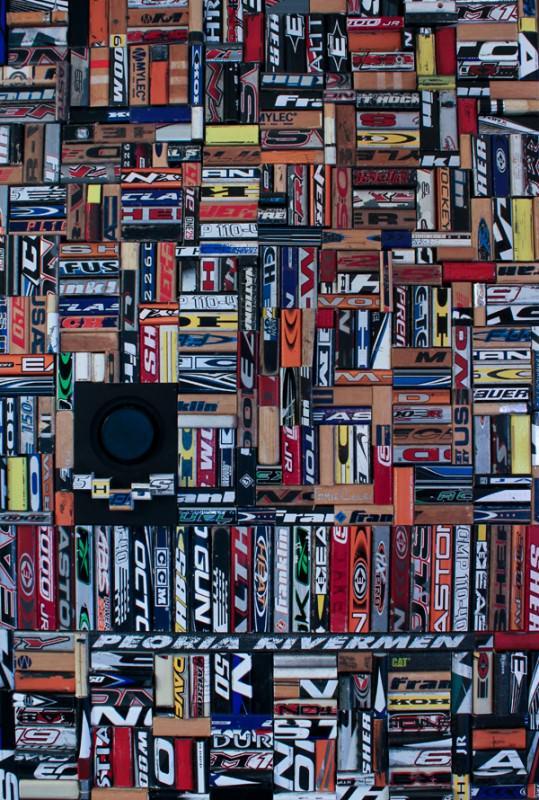 Hockey Sticks Recycled Ideas Recyclart