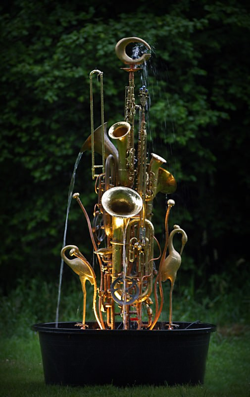Honk Fest in art  with Sculpture plumbing Music Instrument brass