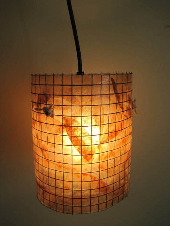 Reused Coffee Filter Lamp Lamps & Lights Recycling Paper & Books