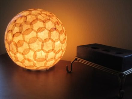 Coffee Filter Lamp