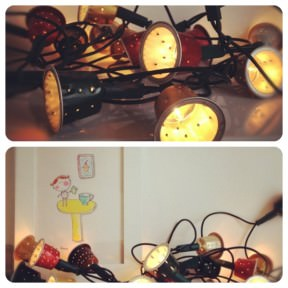 DIY: Nespresso caps garland