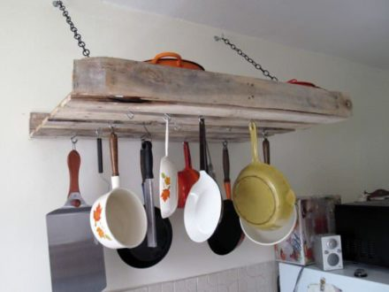 Pallet rack for the kitchen