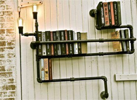 Plumber bookshelves