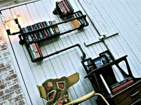 Plumber Bookshelves Recycled Furniture Recycling Metal