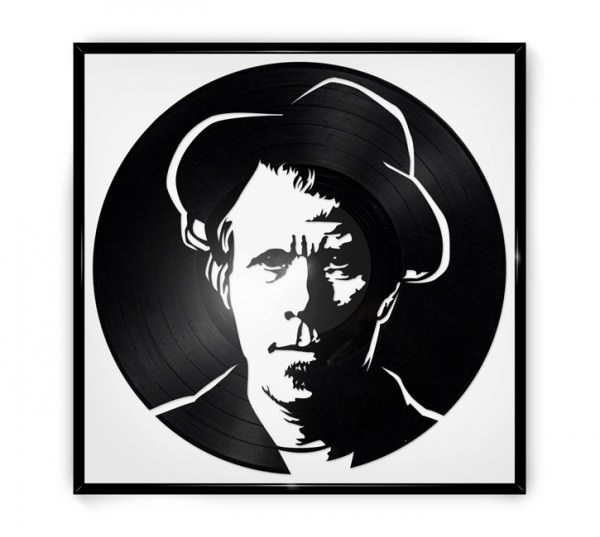 Repurposed Vinyl Turned into Portraits of Iconic Musicians Recycled Art Recycled Vinyl