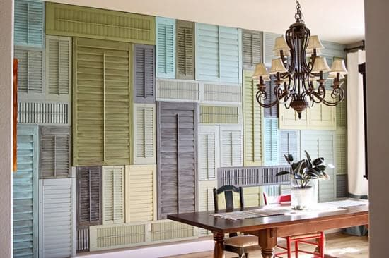 Shutters Wall Home Improvement Wood & Organic