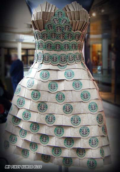 Starbucks Coffee Dress Accessories Do-It-Yourself Ideas Recycled Art Recycled Cardboard