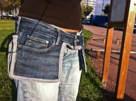 Old jeans as a saddlebags
