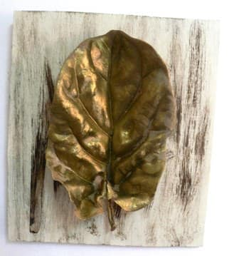 Natural leaves art