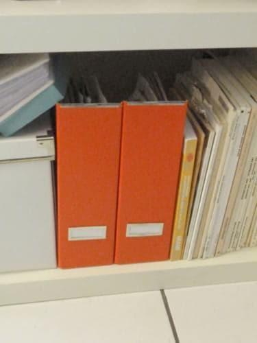Yellow Zebra Striped Magazine Storage Boxes