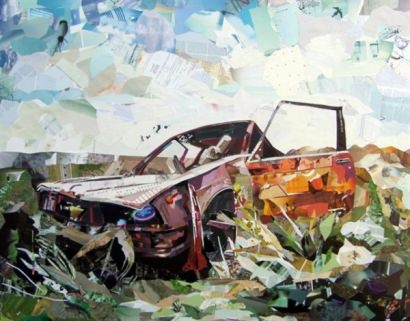 Amazing Recycled Magazine Collage Art