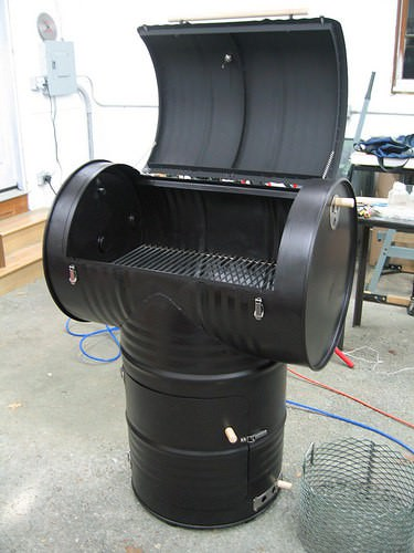 55gallonBBQ 55 gallon drum smoker in packagings metals diy  with Drum BBQ