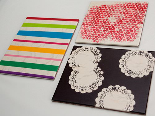 Tiles Upcycled Into Table Mats Accessories Do-It-Yourself Ideas