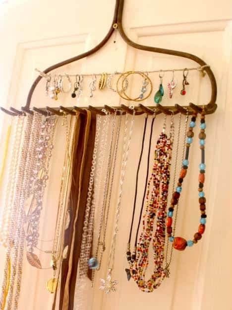 Rake Jewelry Display Do-It-Yourself Ideas Upcycled Jewelry Ideas
