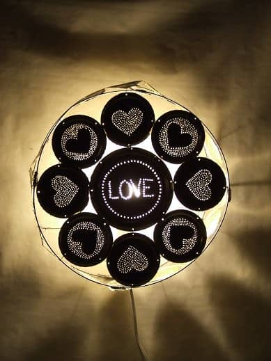 Love Wall Lamp Lamps & Lights Recycling Metal