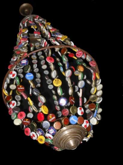 Bottle caps Victorian chandelier