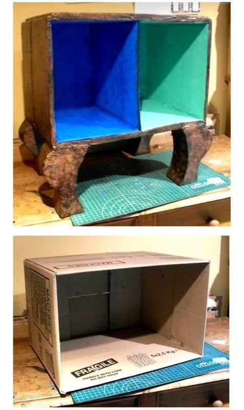 PLANETA PETA hecho de desecho Recycled Cardboard