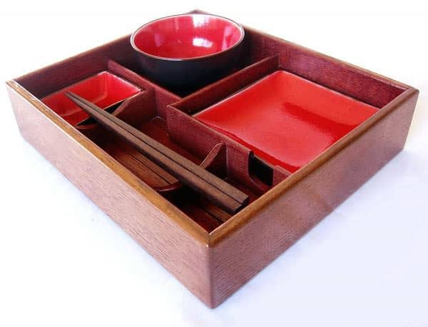 Suteki Box Bento Style Sushi Tray Accessories Wood & Organic