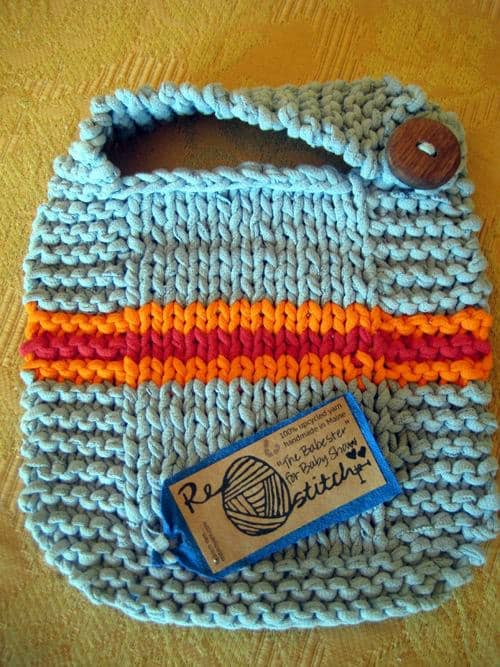ReStitch : Upcycled yarn in fabric accessories  with Yarn T shirt Knit