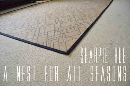 The Sharpie Rug by 'A Nest for All Seasons'