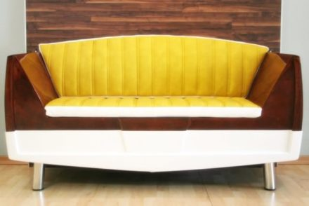 Recycled boat into couch