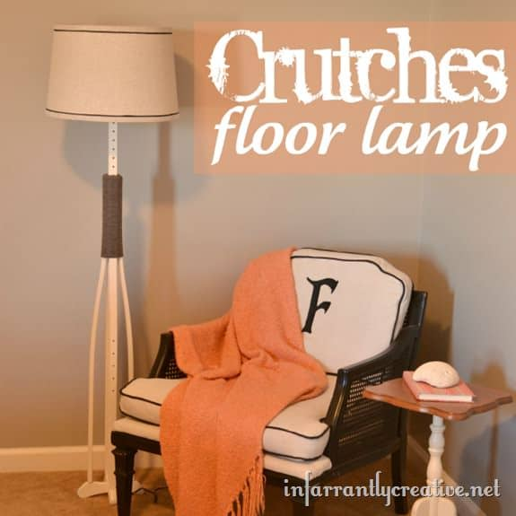 crutches floor lamp thumb 10 Ideas to upcycle old crutches in diy  with Upcycled Recycled Ideas Crutches