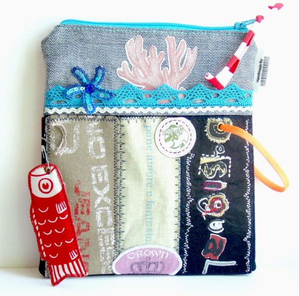 Pouches made of cloth labels Clothing