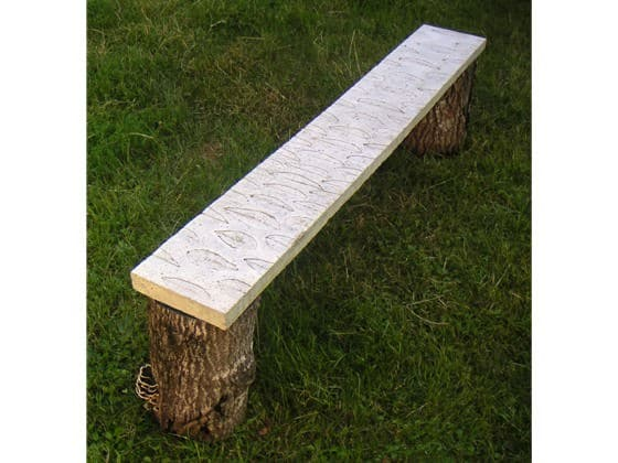 Fossile Bench in furniture  with Furniture concrete Bench