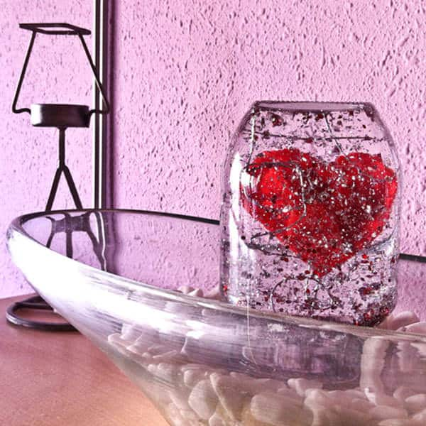 Valentines Snow Globe in diy  with Valentines day Recycled DIY