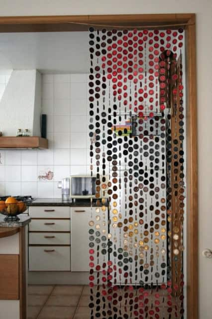Curtain made of Nespresso coffee capsules in packagings diy accessories  with Recycled Nespresso Handcrafted environment Curtain Color