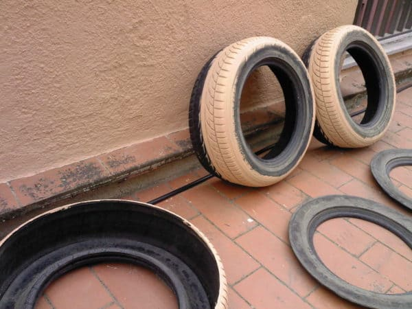 An Original Orchard with Used Tires Do-It-Yourself Ideas Recycled Rubber