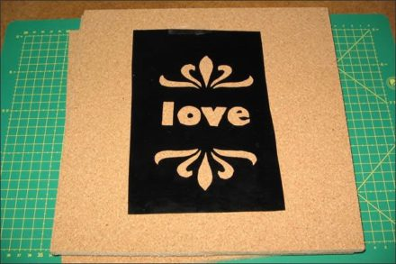 Stenciled cork boards