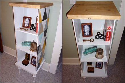 Funky wood pallet cabinet