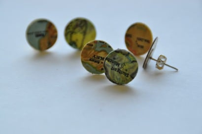 Map Earrings