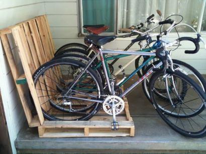 Pallet = easy bikerack