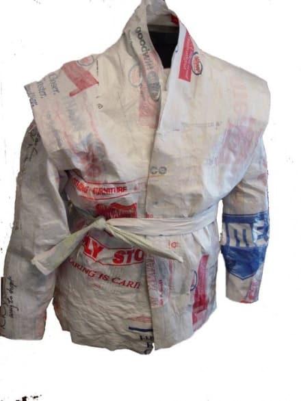 Upcycled raincoat