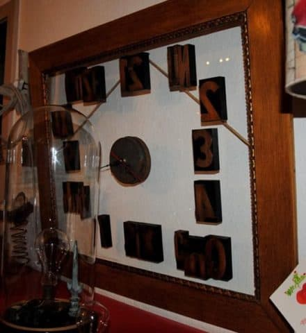 Vintage framed clock