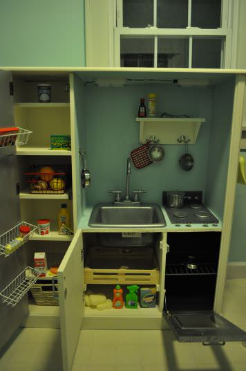 Childs Play Kitchen in diy accessories  with kitchen Kid