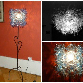 Recycled PET Bottle into Lamp