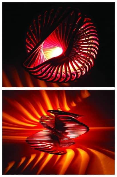 Spiral Coat Hanger Light