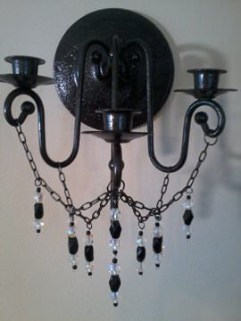 Gothic Sconce for web The Dark Side of Life in furniture  with Chair