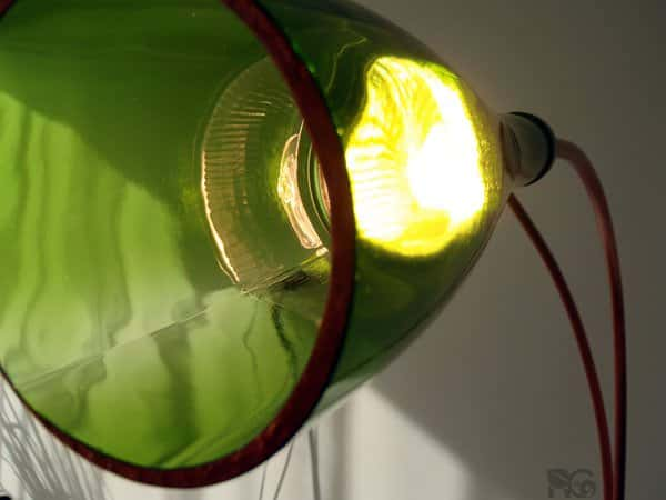 Big bottles result in big lamps Lamps & Lights Recycled Glass