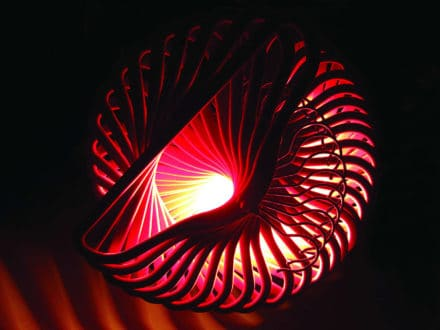 Spiral coat hanger light