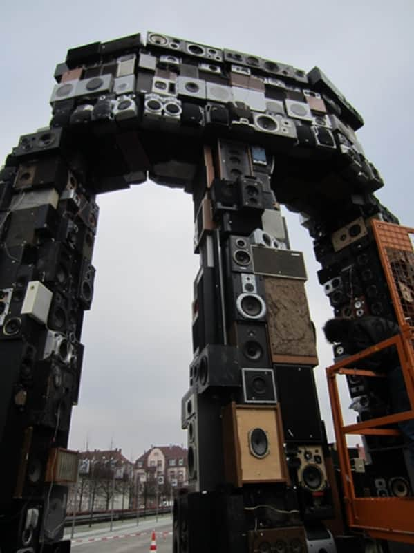 Sound Temple Recycled Art Recycled Electronic Waste