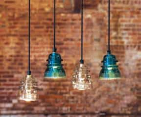 Insulator pendant lights