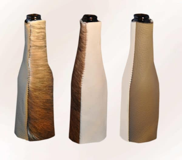 Bottle with Leather Clothing Do-It-Yourself Ideas
