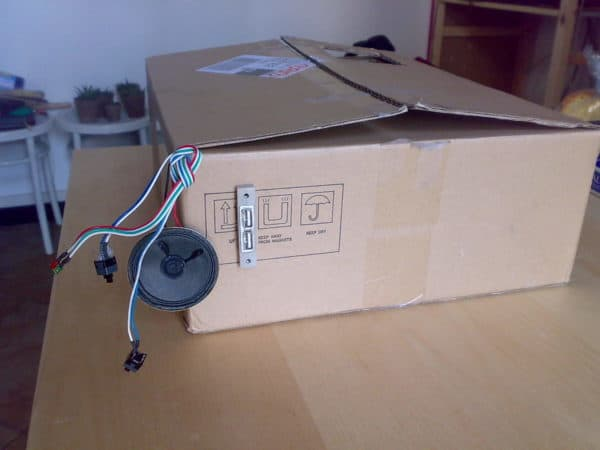 03042012796 600x450 Cardboard PcBox in electronics cardboard  with usb motherboard Desk custom Computer 