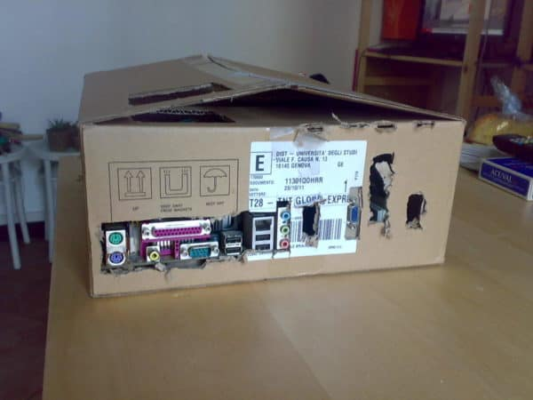 03042012799 600x450 Cardboard PcBox in electronics cardboard  with usb motherboard Desk custom Computer 